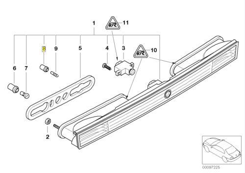 BMW W16W ampoule Lampe titulaire Socket Plug 6916471 63216916471