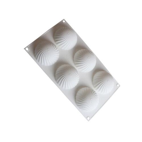 Halbkreisförmige Mousse Kuchenform Spiralweißform Backen Schokoladenformen DIY