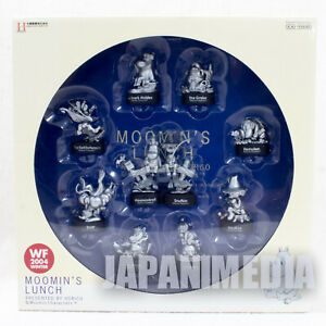 Moomin-039-s-Lunch-Kaiyodo-Moomin-Mini-Vignette-Figure-10pc-Collection-Silver-Color