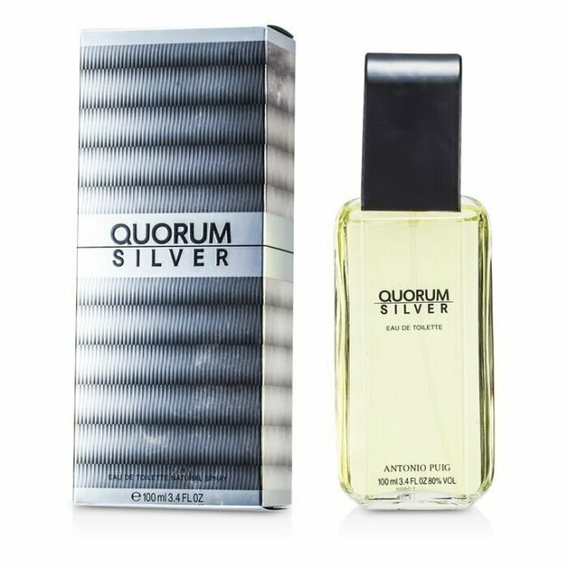 Puig Quorum Silver Eau De Toilette Spray 100ml Mens Cologne