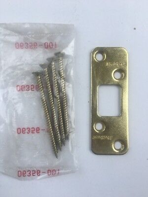 Kwikset Maximum Security Deadbolt Strike Polished Brass #3222-01 3 CP