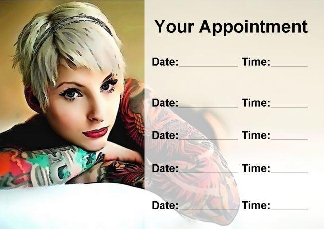 Tatuador Studio Tattooist Personalizado nombramiento Tarjetas