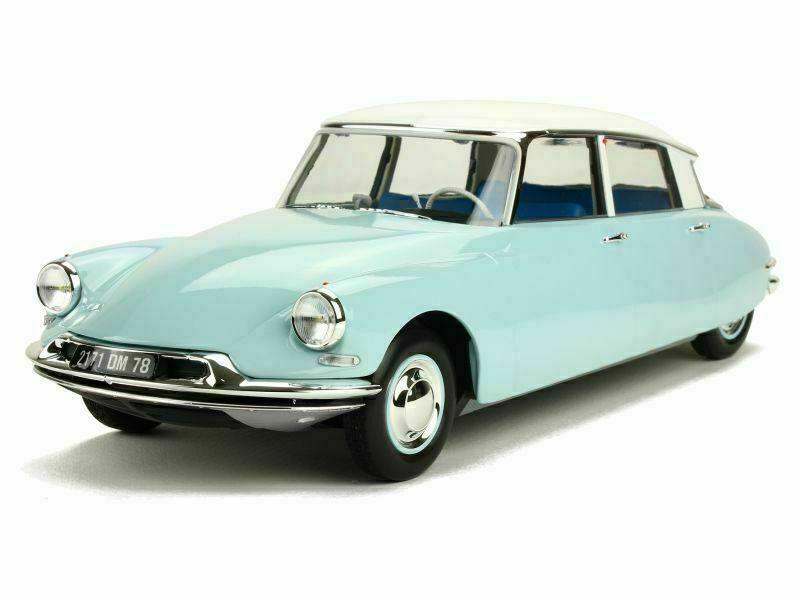 1 18 Norev 181566 1959 Citroen DS 19 blu biancao