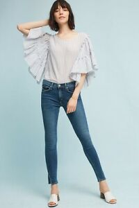 Anthropologie-McGuire-Denim-Newton-Mid-Rise-Slit-Ankle-Jeans-Medium-Wash-Size-29
