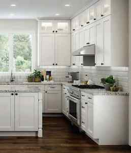 Image Is Loading 11 X 14 Elegant White Shaker Kitchen Cabinet