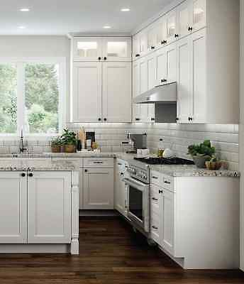 11 X 14 Elegant White Shaker Kitchen Cabinet Door Sample