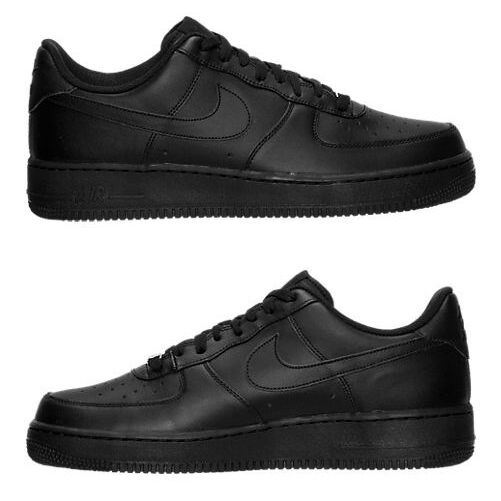 NIKE AIR FORCE 1 LOW CASUAL MEN's LEATHER BLACK NEW IN BOX AUTHENTIC SELECT SIZE
