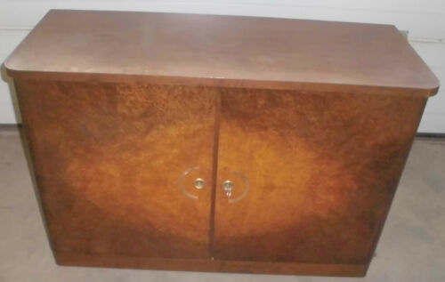 50er Jahre Stil Schrank Kommode Sideboard Wurzel Optik 2 Turig Top