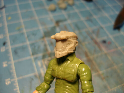 MH126 Custom Cast male head use w/3.75 1:18 HALO Star Wars Acid Rain