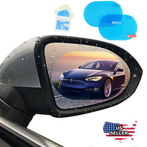 2X Car Rearview Mirror Rainproof Film sticker Anti-Fog Safety Driving Protective