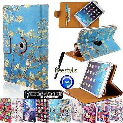 """Rotating 360 Stand Wallet Leather Case Cover Fit 10"""" Samsung Galaxy Tab Tablets"""
