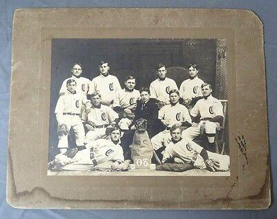 1908 Concordia College Baseball Team Large Cabinet Photo w/ Max Carey H.O.F.