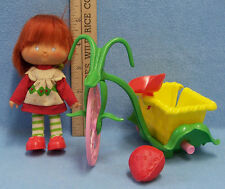 Vintage Strawberry Shortcake Doll With Red Hair and Tricycle by Kenner 1982