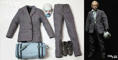 1//6 Scale Bank Robber The Joker suit set w// black gloves Batman toy hot ❶USA❶