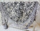 Fashion Lace Tassel Rose Floral Knit Mantilla Triangle Hollow Scarf Shawl Wrap