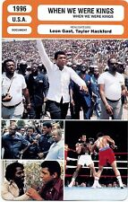 CARTE FICHE CINEMA 1996 WHEN WE WERE KINGS Ali Foreman King Brown Lee Hackford