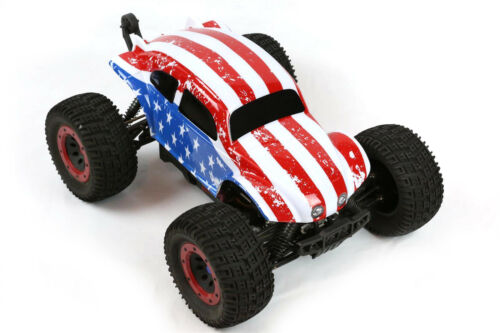 Custom Buggy Body American Flag for 1//8 RC Truck Thunder Tiger MT4 G3 HPI Savage