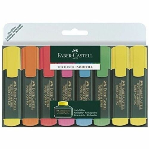 Faber Castell Textliner 1548 Refillable Highlighter Pack Of 8 Paper Copy Fax