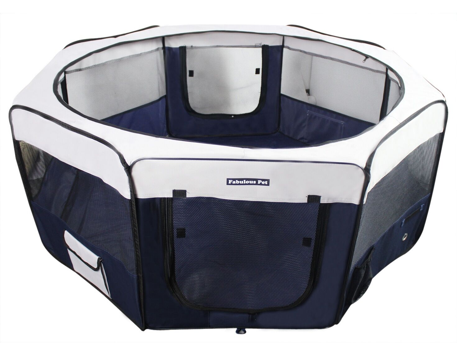 45  Portable Puppy Pet Dog Soft Tent Playpen Folding Crate Pen New - Navy