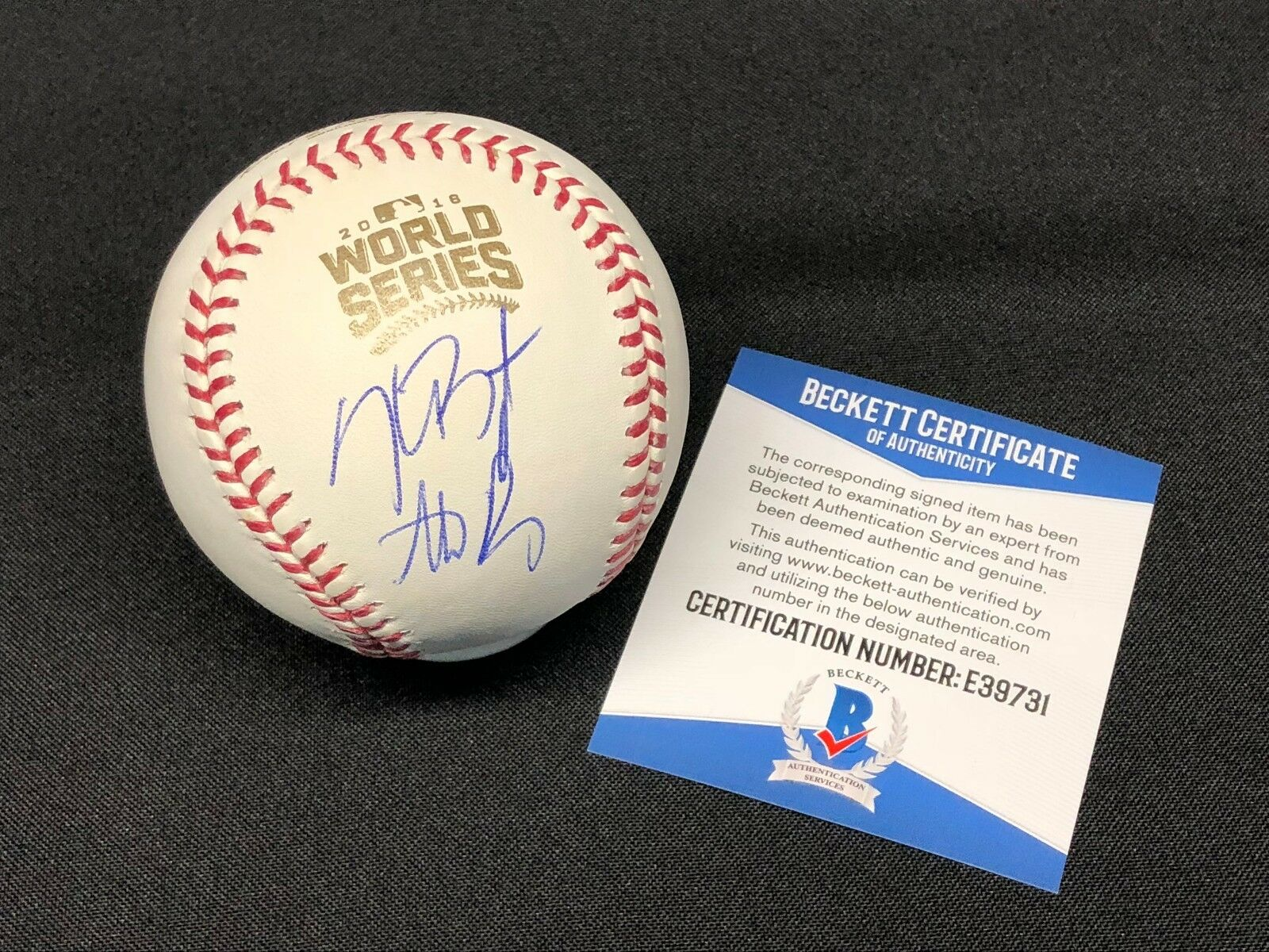 Kris Bryant & Anthony Rizzo Signed 2016 World Series Baseball MLB WS Champs BAS