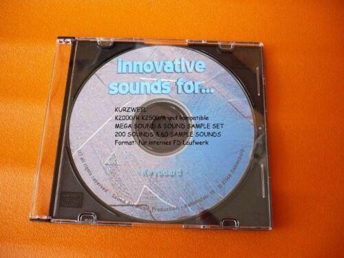 Kurzweil K2000//R...K2500//R 200 Sounds /& 60 Sample-Sounds auf CD !!!