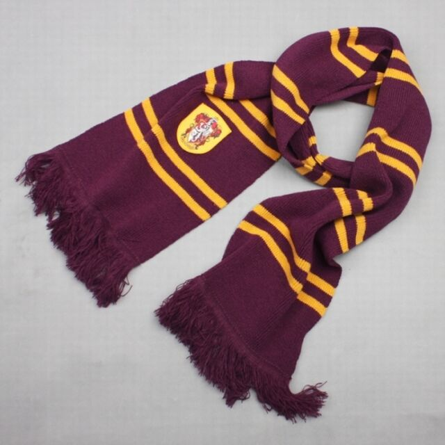 HARRY POTTER SCIARPA SCARF GRIFONDORO GRYFFINDOR SERPEVERDE COSPLAY SLYTHERIN #3