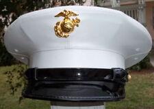USMC US Marine Corps enlisted dress blue frame cover hat white custom size
