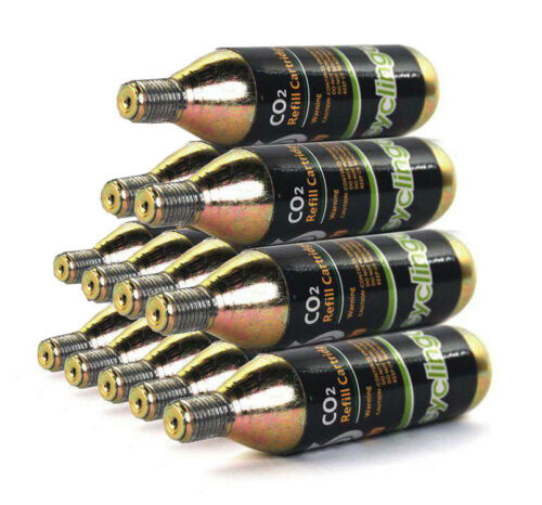 12 x 16g Threaded CO2  Cartridges Refills For Bike Bicycle Pump Inflator