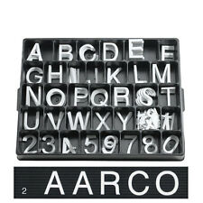 """2"""" WHITE CHANGEABLE SIGN PLASTIC LETTERS MENUBOARD"""