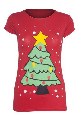 Femme Noël Xmas Santa Bonhomme De Neige Renne élégant Batman Penguin T Shirt Tops