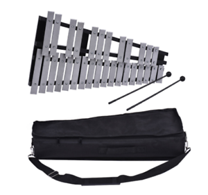 2 mallets ENNBOM 30 Notes Foldable Glockenspiel Xylophone Vibraphone Percussion Instrument