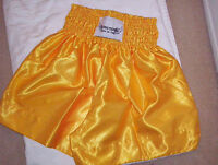 el Rey Gold'' Muay Thai Shorts Gold Shorts - Large American Sizes