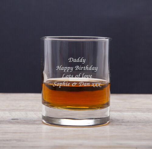 Personalised Engraved Message Whiskey Tumbler Glass Usher Best Man Wedding Gifts