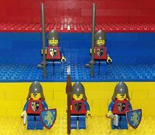 5 Lego Classic Castle Kreuzritter Figuren. Minifig Löwenritter Burg Knights