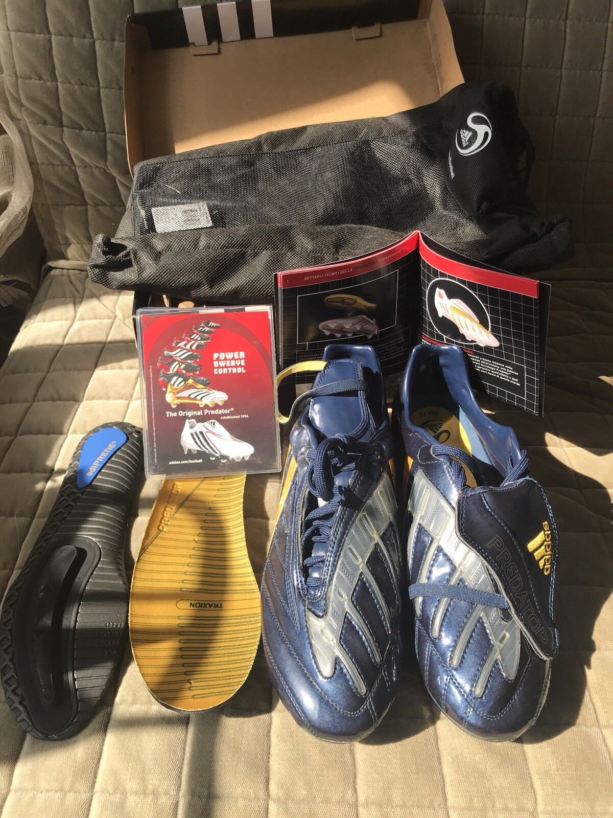 Adidas Prossoator energiaswerve TRX FG Diuominiione 10.5 blu D Beckham edizione