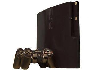 Sony Playstation 3 Slim Skin (Ps3 Slim) - New - Gloss Black System Skins