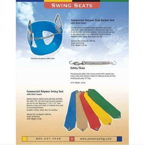 Swing Belt  Swings COMMERCIAL RUBBER SWINGSET Playset Strap Seat New CHOOSE