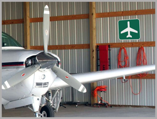 """Airport Ahead 12/""""x12/"""" Metal Reflective Road Sign for Hangar Garage or Home"""