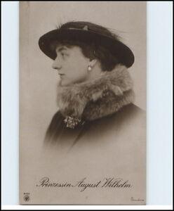 Adel-Monarchie-1915-Kronprinzessin-Prinzessin-Princess-AUGUST-WILHELM-mit-Hut