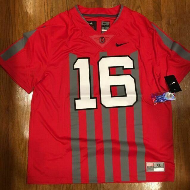Nike Ohio State Buckeyes #16 1916 Throwback Music Cannon Fire Jersey XL Limited
