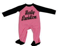 313132 Harley Davidson Baby Child's Girls Footed Coverall's Size 18 Months