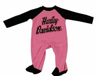 313132 Harley Davidson Baby Child's Girls Footed Coverall's Size 24 Months