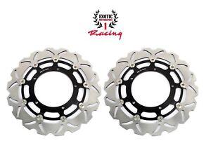 Front-Brake-Disc-Rotors-Set-For-Yamaha-R1-2004-06-amp-FZ1-2006-2013-Wave-Rotors