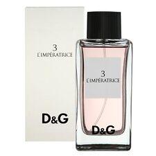 D&G 3 L'Imperatrice * Dolce & Gabbana 3.3 oz Eau de Toilette Women Perfume Spray