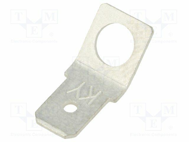 flach männlich 6,3mm M5 schraubbar 0,8mm  Messing FS2257-5//NC PCB-Löt Verbinder