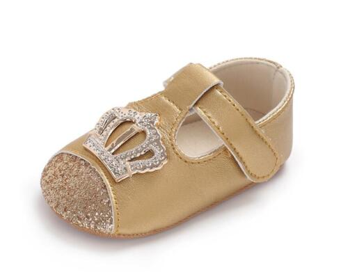 Baby Girl Pram Shoes Infant Princess First Shoes T-Bar Trainers Newborn to 18 M