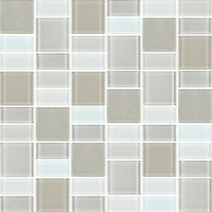 Image Is Loading Fusion Pearl Glass Mosaic Tiles Backsplash Bathroom Tile