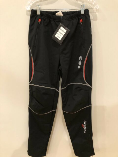 NWT 4ucycling Mens Winter Sports Pants Fleece Lined Windproof Black XL $70 MSRP