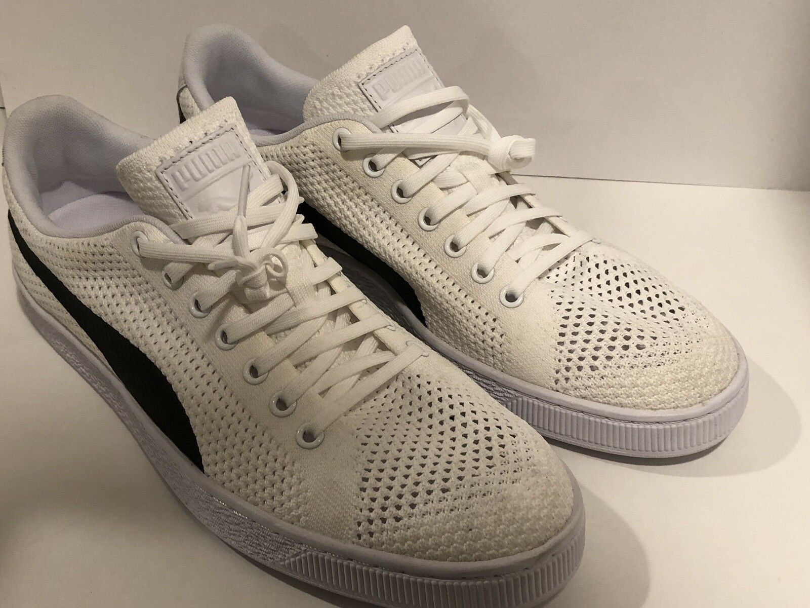 Puma Basket Classic EvoKNIT White Men Casual Lifestyle shoes Sneakers