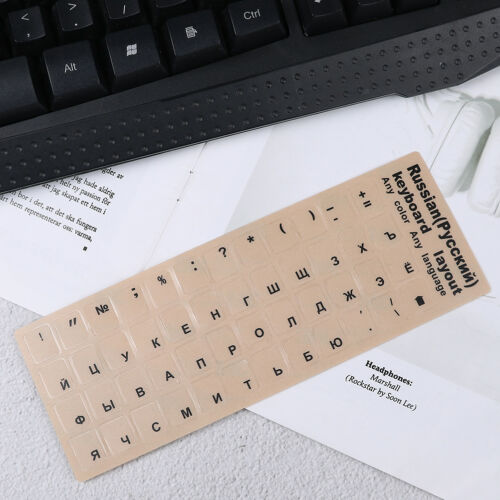 Russian  standard keyboard layout sticker letters on replacement Pip PVCA